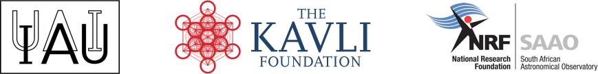 logos of the IAU, the Kavli Foundation and the SAAO/NRF